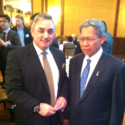 Nick James and Dato Sri Mustapa