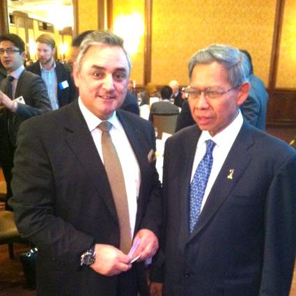 Nick James and Dato Sri Mustapa